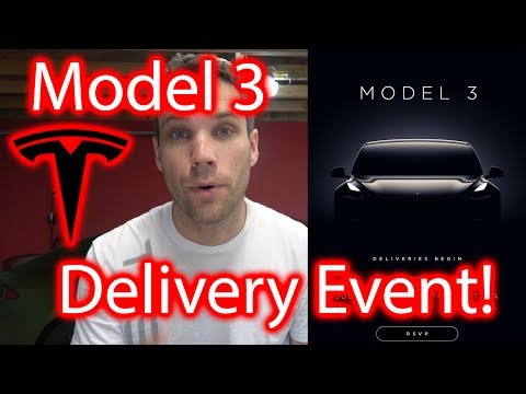 Tesla Model 3 Delivery Event Invitation!!!! It