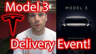 Tesla Model 3 Delivery Event Invitation!!!! It