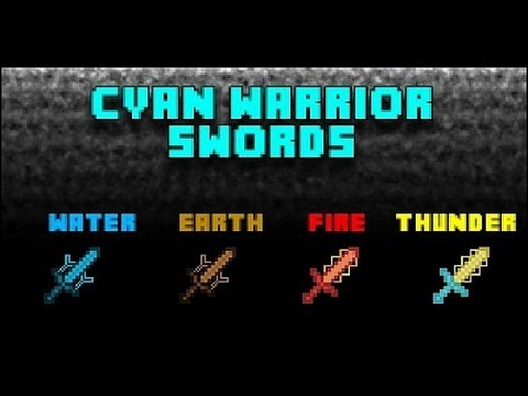 cyan warrior swords mod