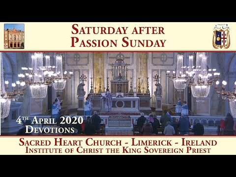 4th April 2020 - Adoration with prayers in time of an epidemic - Sacred Heart Church - Limerick
