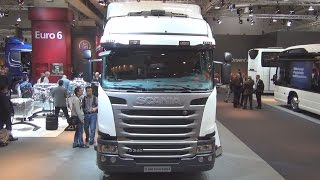 Scania G340 4x2 CNG with G-Series Highline Cab (2014) Exterior and Interior in 3D 4K UHD