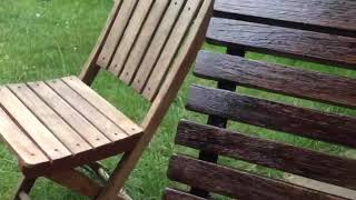 How to restore the old wooden garden furniture- Garden chairs- Part 2