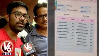Students And Parents Face To Face Over TS Inter Results Issue | V6 News
