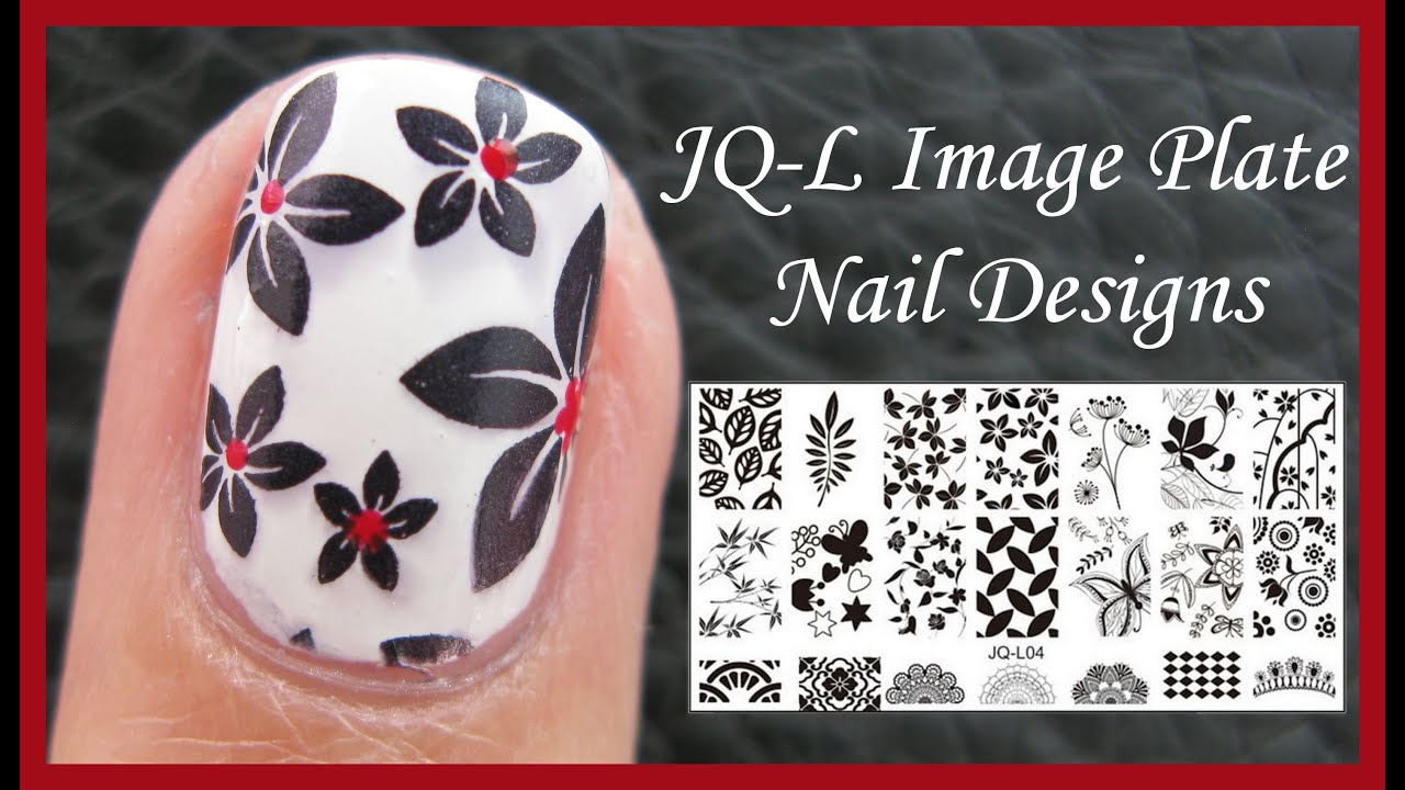Jq L Flower Image Plate Stamping Nail Art Design Tutorial For Short