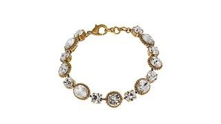 """Sorrelli Jewelry Clear Crystal 7"""" Oval Station Bracelet"""