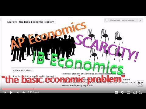 Scarcity, the Basic Economic Problem