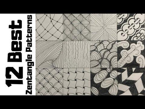 Drawing Easy Zentangle Patterns Doodle Art