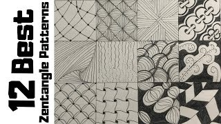 zentangle patterns draw easy doodle drawing beginners tutorial designs zentangles