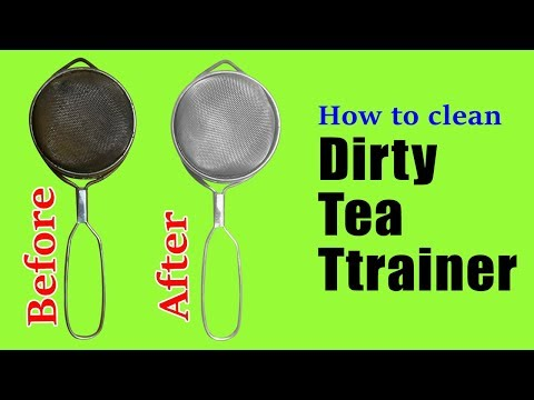 How to clean dirty tea strainer at home | How to clean metal sieve