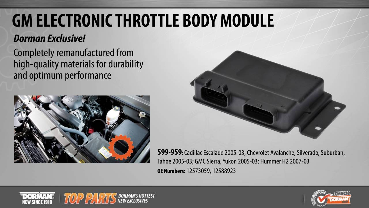 Highlighted Part: Electronic Throttle Body Module for Select Cadillac,  Chevy, GMC & Hummer Models