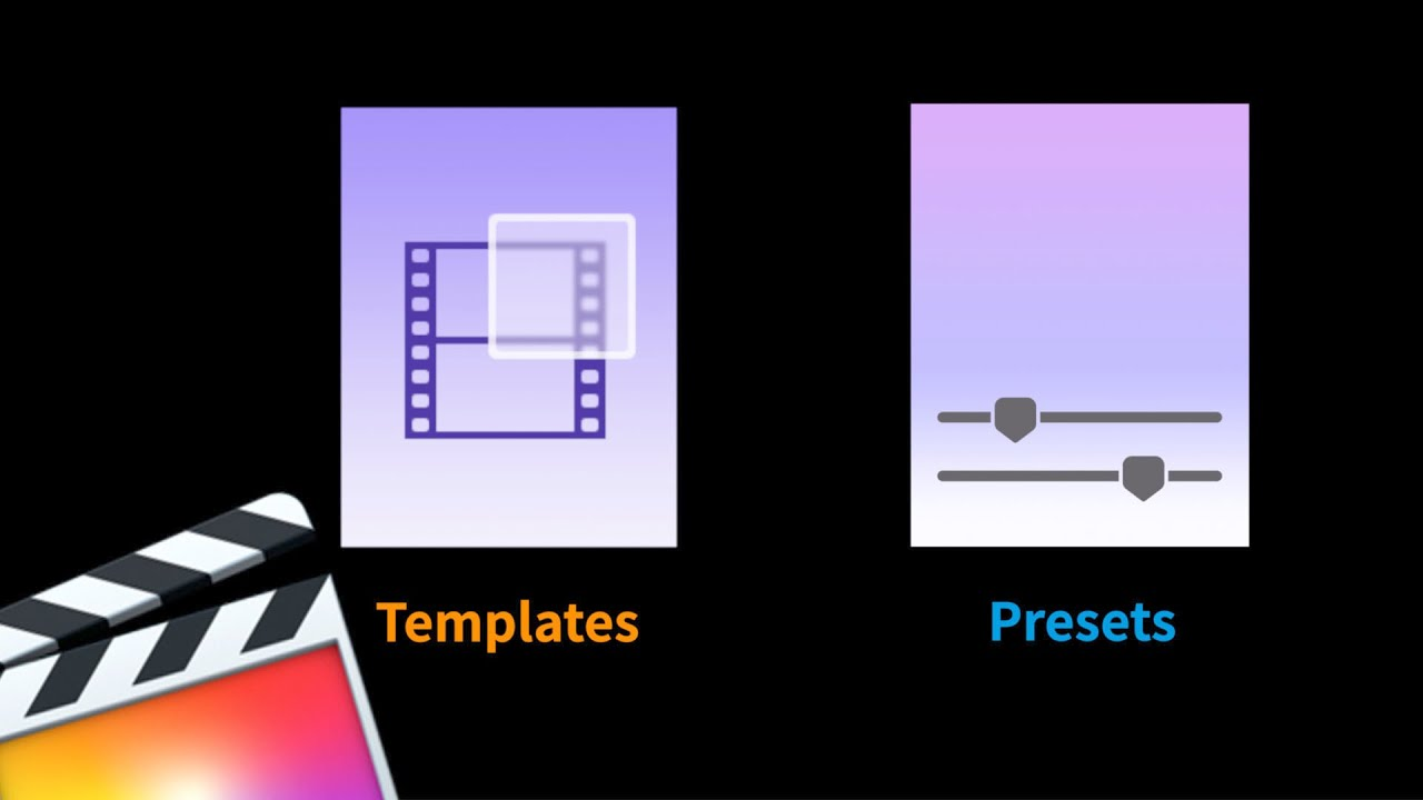 [파이널컷프로] 템플릿과 프리셋의 차이점 (Templates vs Preset)