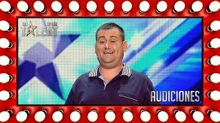 Este hombre se toma con humor su invidencia | Audiciones 7 | Got Talent España 2018