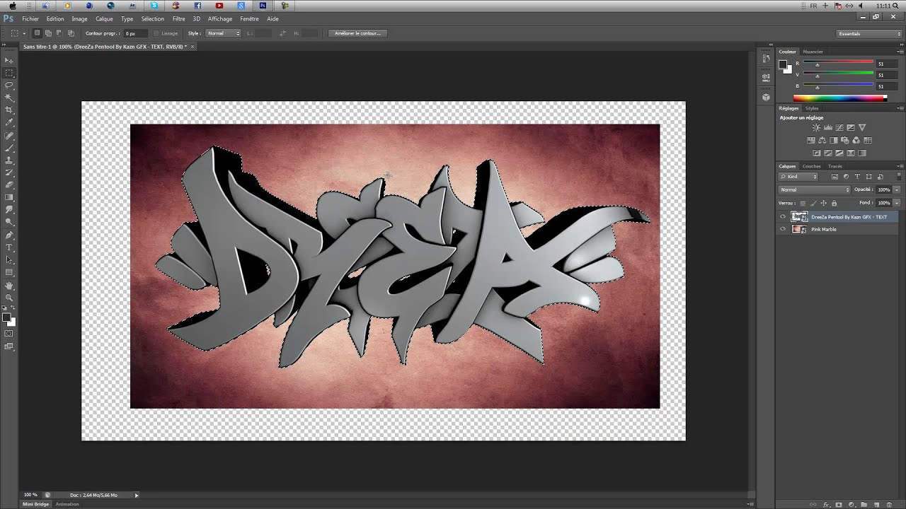 TUTO PHOTOSHOP | Mettre une texture sur un Texte | AlExXDU01™ - YouTube