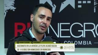 Asesinato en la vereda La Playa acabó racha de 110 días sin homicidios en Rionegro