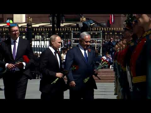 PM Netanyahu attended a ceremony for the unknown soldier at the memorial for Red Army soldiers