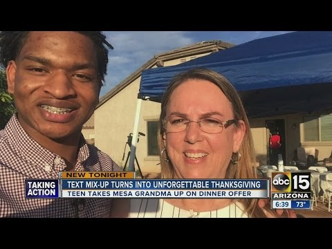 Stranger meets grandma who offered Thanksgiving meal via text