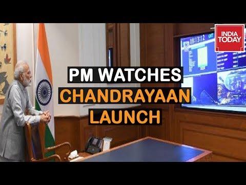 PM Modi Watching Live Telecast Of Chandrayaan-2 Launch