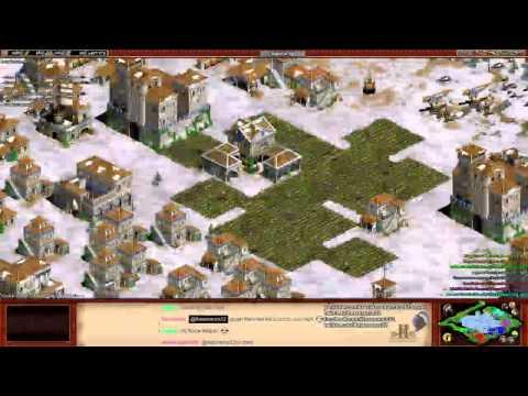 Aoe2 HD: 4v4 Ghost Lake (Italians, The Struggle)