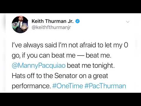 Keith Thurman message to Manny Pacquiao after a fight