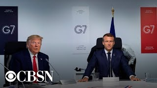President Trump And President Macron Hold Joint Press Conference At G7 Summit, Live Stream