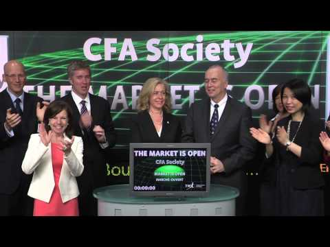 CFA Society Toronto opens Toronto Stock Exchange, May 12, 2014.