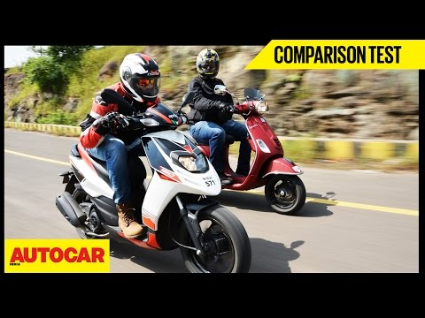 Aprilia SR 150 VS Vespa SXL 150 | Comparison Test | Autocar India