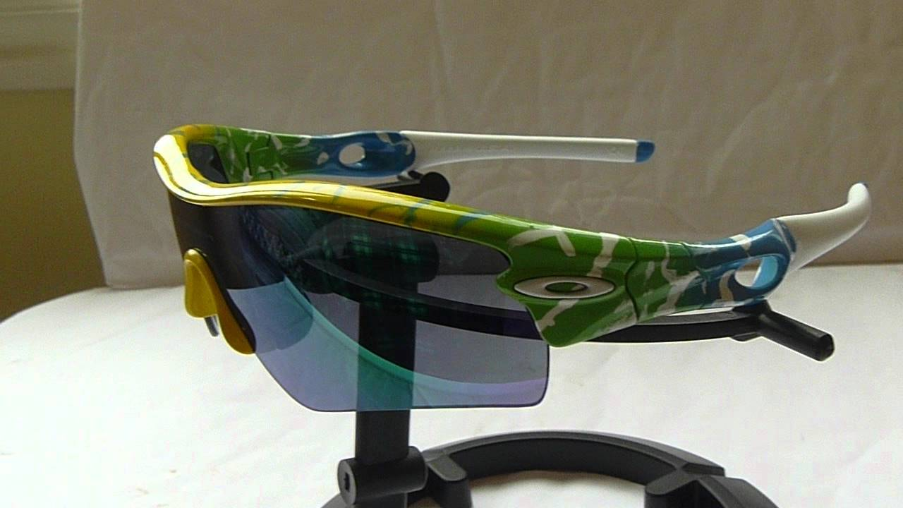 Rare Custom Oakley Radar Path Splatter Frame, Jade Lens, White socks ...