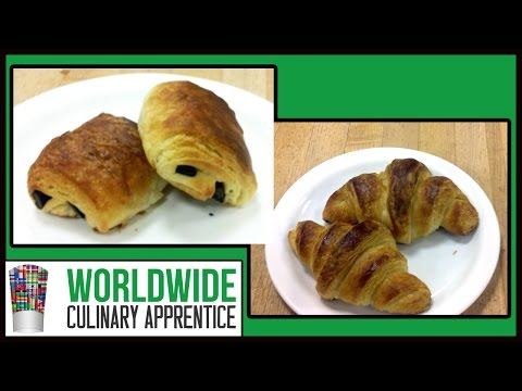 French Viennoiseries - Croissant and Pain au Chocolat Recipe Techniques