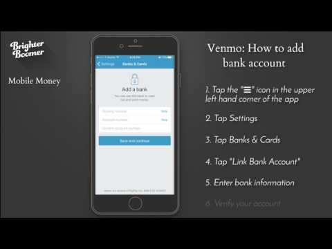 Venmo-How to add bank account SC from YouTube · Duration:  1 minutes 48 seconds