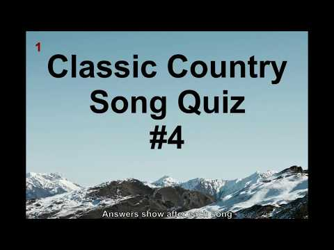 Name That Song! Country Classics Music Quiz #4 (QNTSQ)