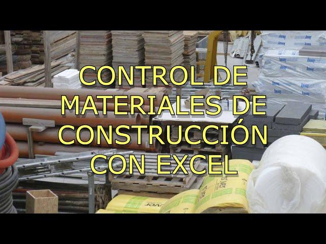 Excel para control de Stock de Materiales de Construcción
