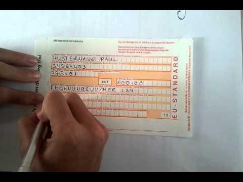sepa berweisungmp4 - Uberweisung Muster