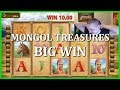 """DON'T GET GREEDY""! BIG WIN ON MONGOL TREASURES!"