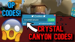 NEW *SECRET* CRYSTAL CANYON CODES! Roblox Unboxing Simulator