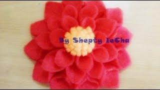 Cara membuat bunga dahlia dari kain flanel terlengkap!!! jangan lupa like, komen, share, dan subscribe ya.. :-)