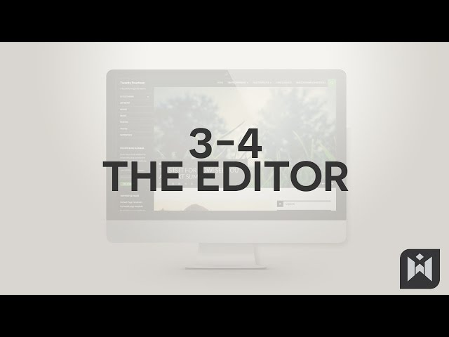 WordPress for Beginners 2015 Tutorial Series | Chapter 3-4: The Editor