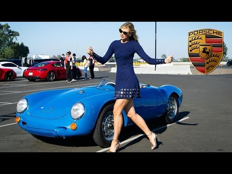 Maria Sharapova Vintage Porsche Photoshoot (BTS)
