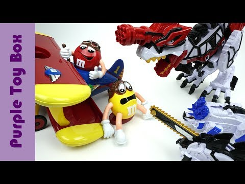 Thumbnail: Dinosaurs And Chocolate Airplane Dispenser Toys, Dinosaur Transformer Toys
