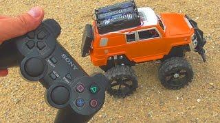 How to make a car on the RC from the Sony PS2 joystick // Как сделать машинку на радиоуправлении