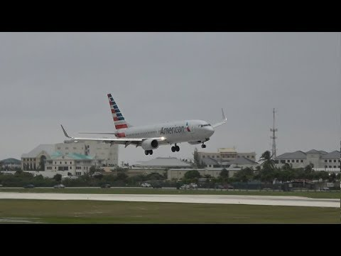 CRAZY CROSSWIND ACTION!! Stormy Weather Planespotting in Grand Cayman