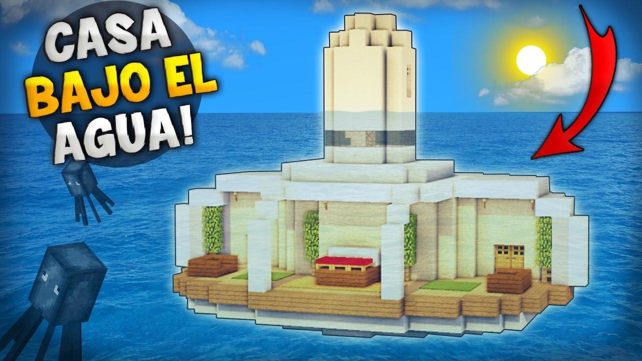 Minecraft como hacer una epica y hermosa casa bajo el for Como construir una pileta de agua