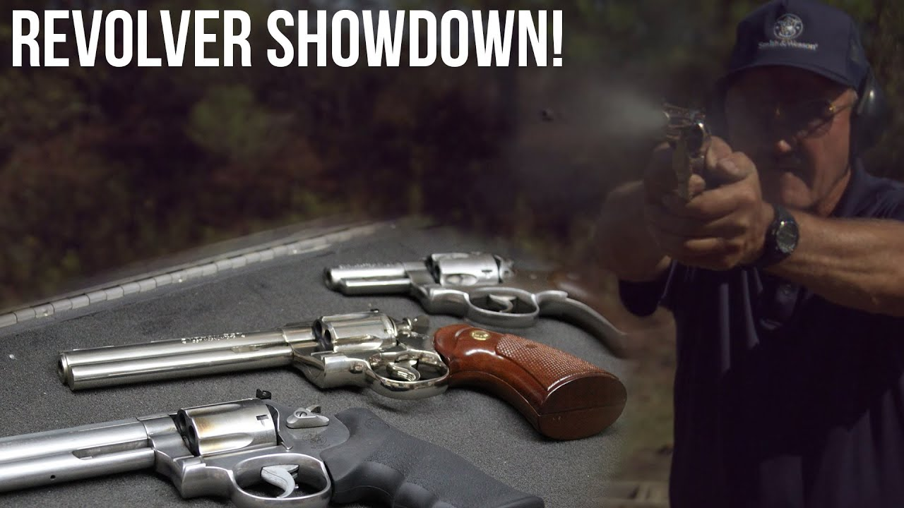 Revolver Showdown! Colt Python vs. S&W L frame vs. Ruger Speed Six ...
