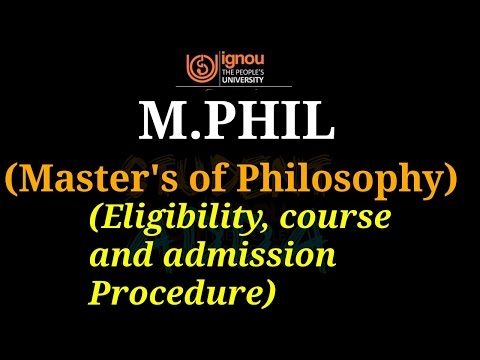 [IGNOU] M.PHIL [MASTER OF PHILOSOPY] COMPLETE DETAILS ABOUT ADMISSION