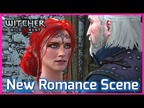Witcher 3 ► NEW TRISS ROMANCE SCENE at Kaer Morhen, Patch 1.10