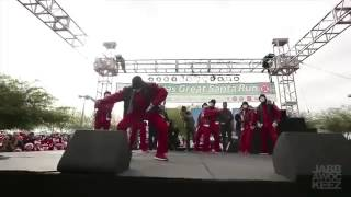 Jabbawockeez at Las Vegas Santa Run 2012