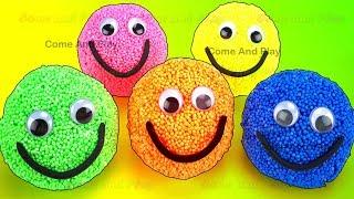 Play Foam Smiley Face Surprise Toys Talking Tom Cat Masha Mashem Fun for Kids