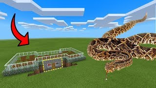 How To Live Inside an Anaconda Farm in Minecraft PE   MCPE Journalist