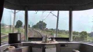 下り寝台特急カシオペア号 大宮発車から宇都宮到着までの展望車窓です.