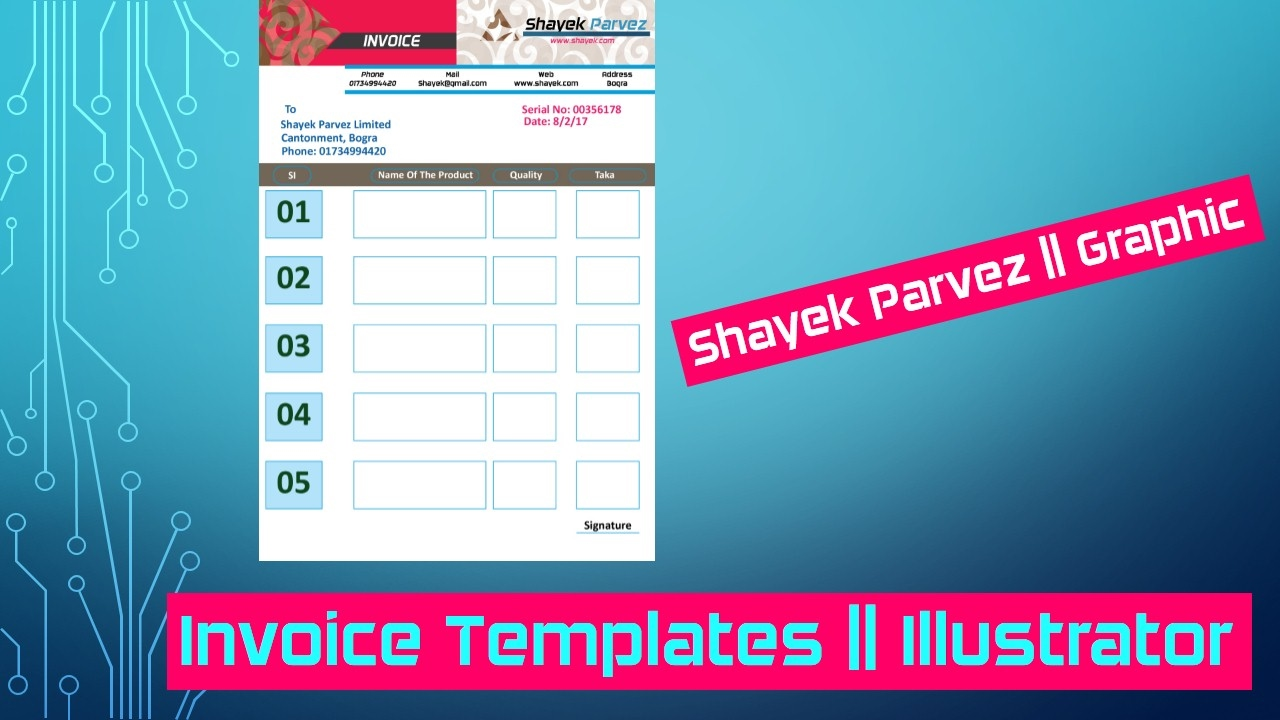How to Design Invoice Templates illustrator CS6 - YouTube