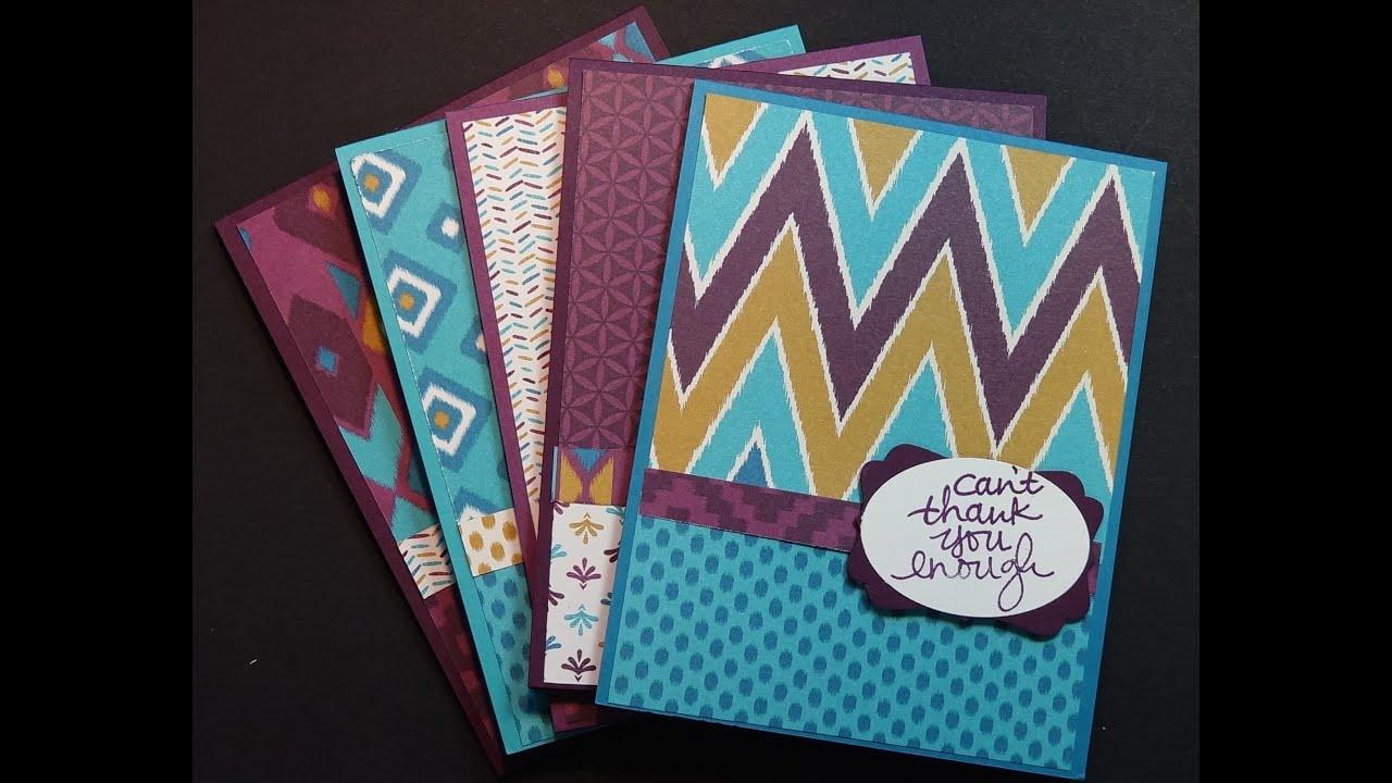 Using stampin ups designer series paper to make greeting cards using stampin ups designer series paper to make greeting cards youtube m4hsunfo